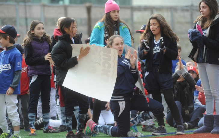 Enthusiasm from some softballers…