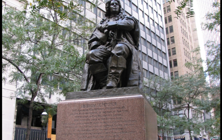 <p>De Peyster in Hanover Square, where he sat from the 1970s until 2004. </p>
