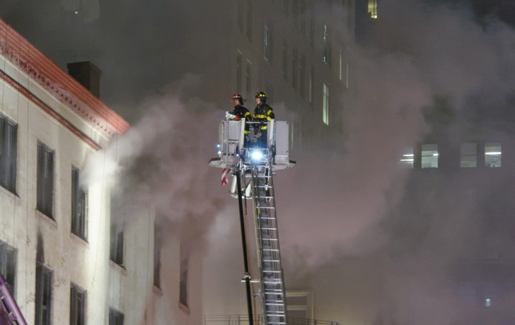 Fire erupts at Tribeca building, 12 injured