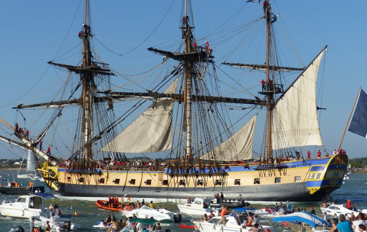 Hermione, a reconstruction of the 1779 French ship that ferried General Marquis de Lafayette to the U.S. during the Revolutionary War, could be coming to the South Street Seaport as part of its summer voyage.