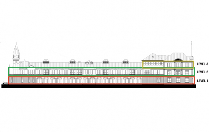 When it opens next spring, Pier A will have three floors. Rendering: Green Light Architecture/Tribeca Trib