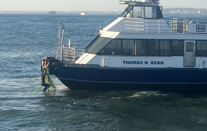 Dramatic video shows man rescued from Hudson River