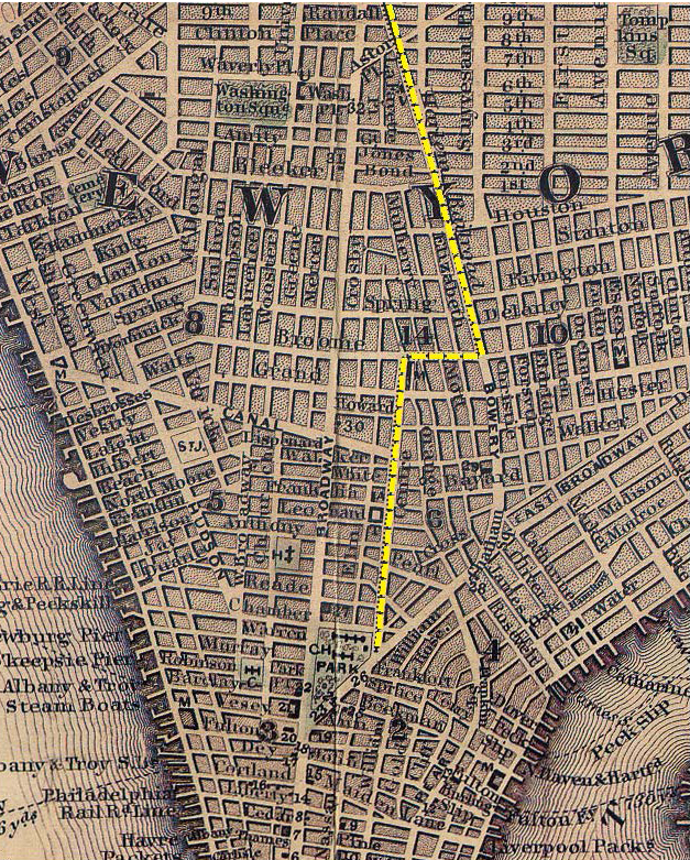Map Of New York Harlem.City S First Railroad The New York And Harlem Line Began Downtown